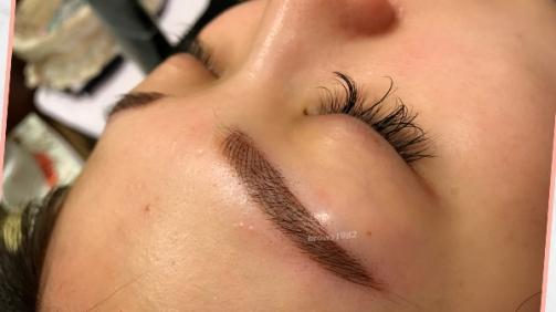 飄眉分享:做壞的一片式眉毛展示。