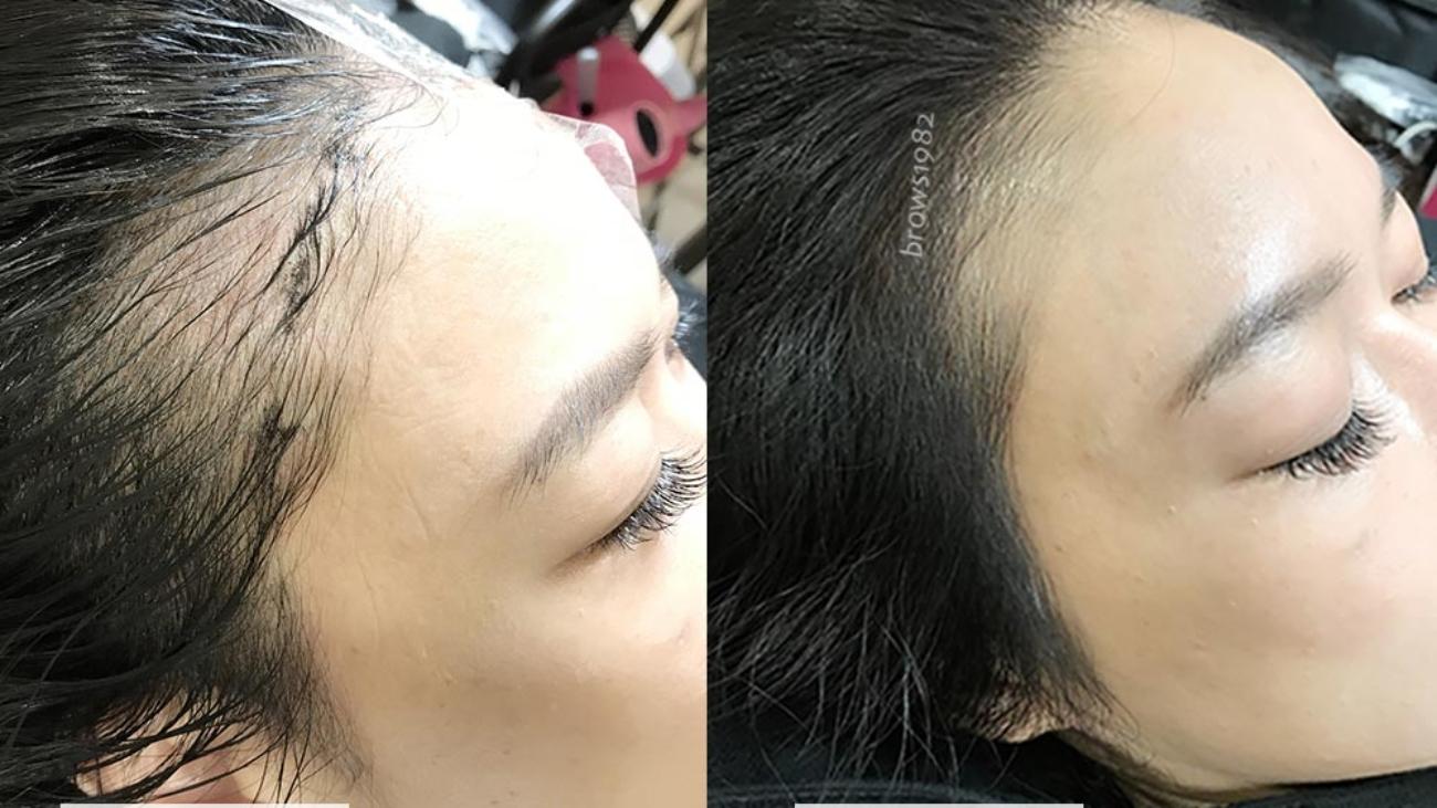 美智紋繡-髮際線設計
